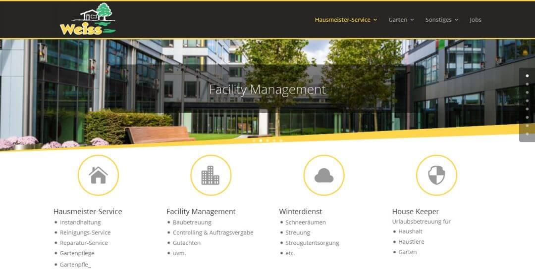 Homepage Hausmeisterservice Weiss Neugablonz